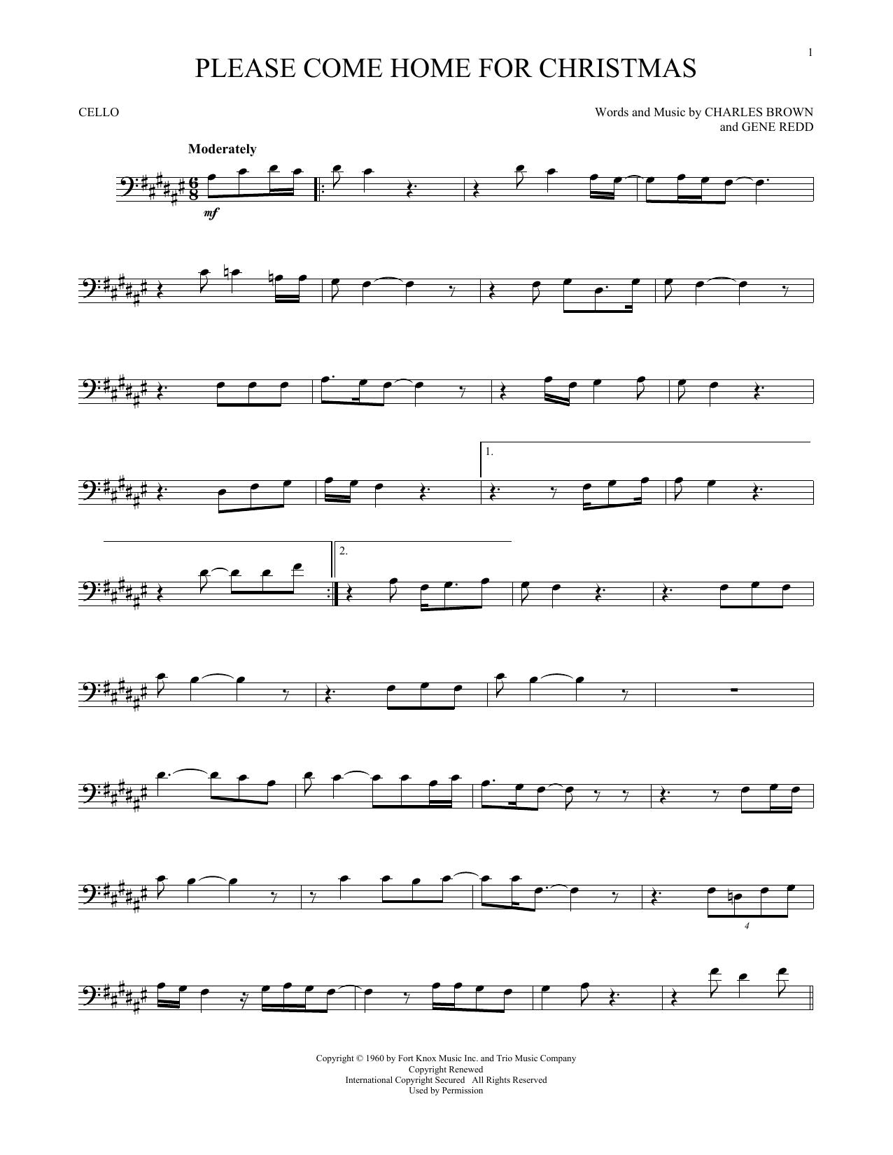 Please Come Home For Christmas (Cello Solo)