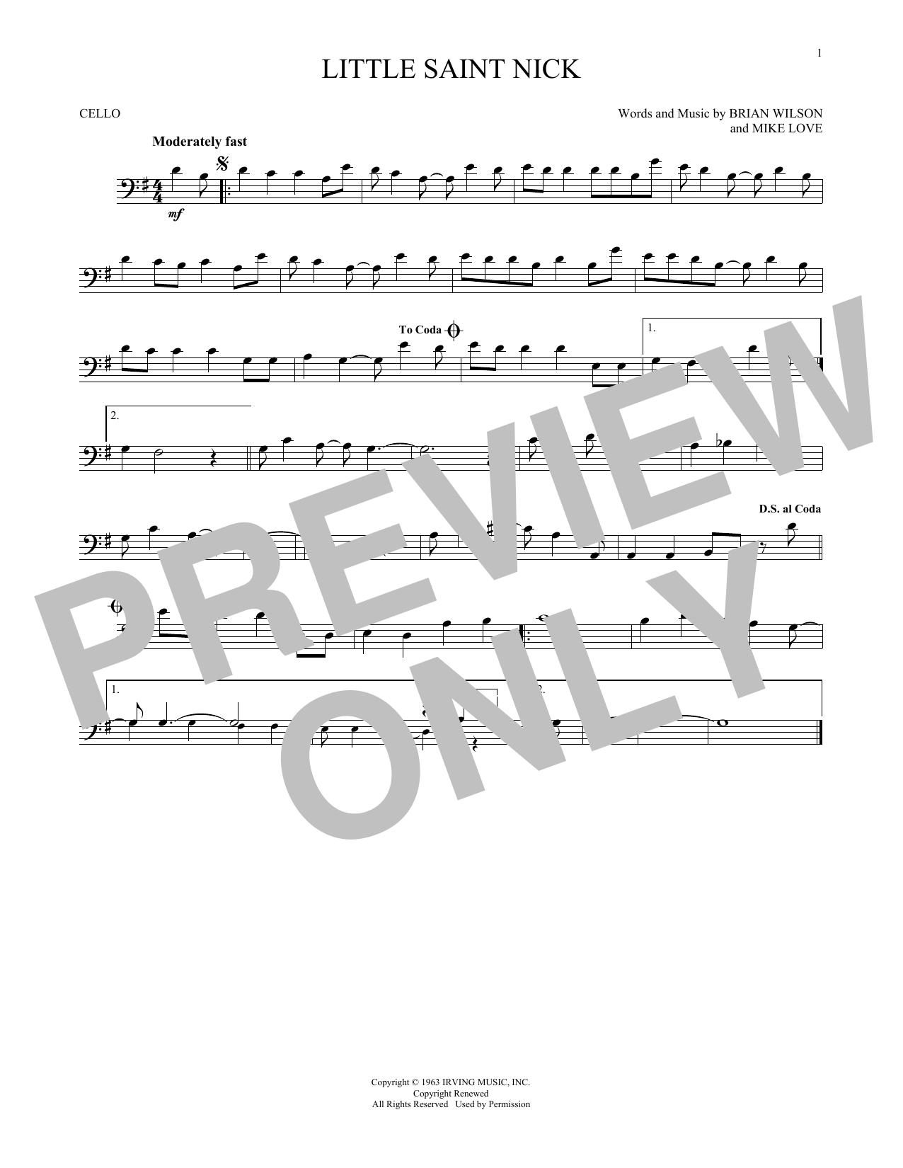 Little Saint Nick (Cello Solo)