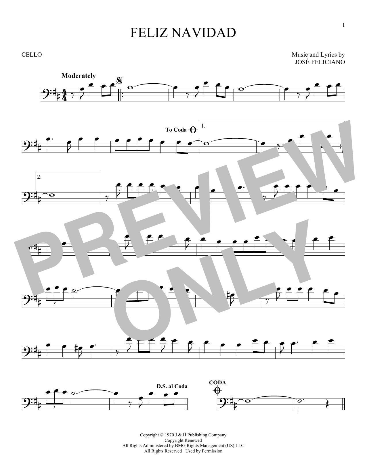 Feliz Navidad (Cello Solo)