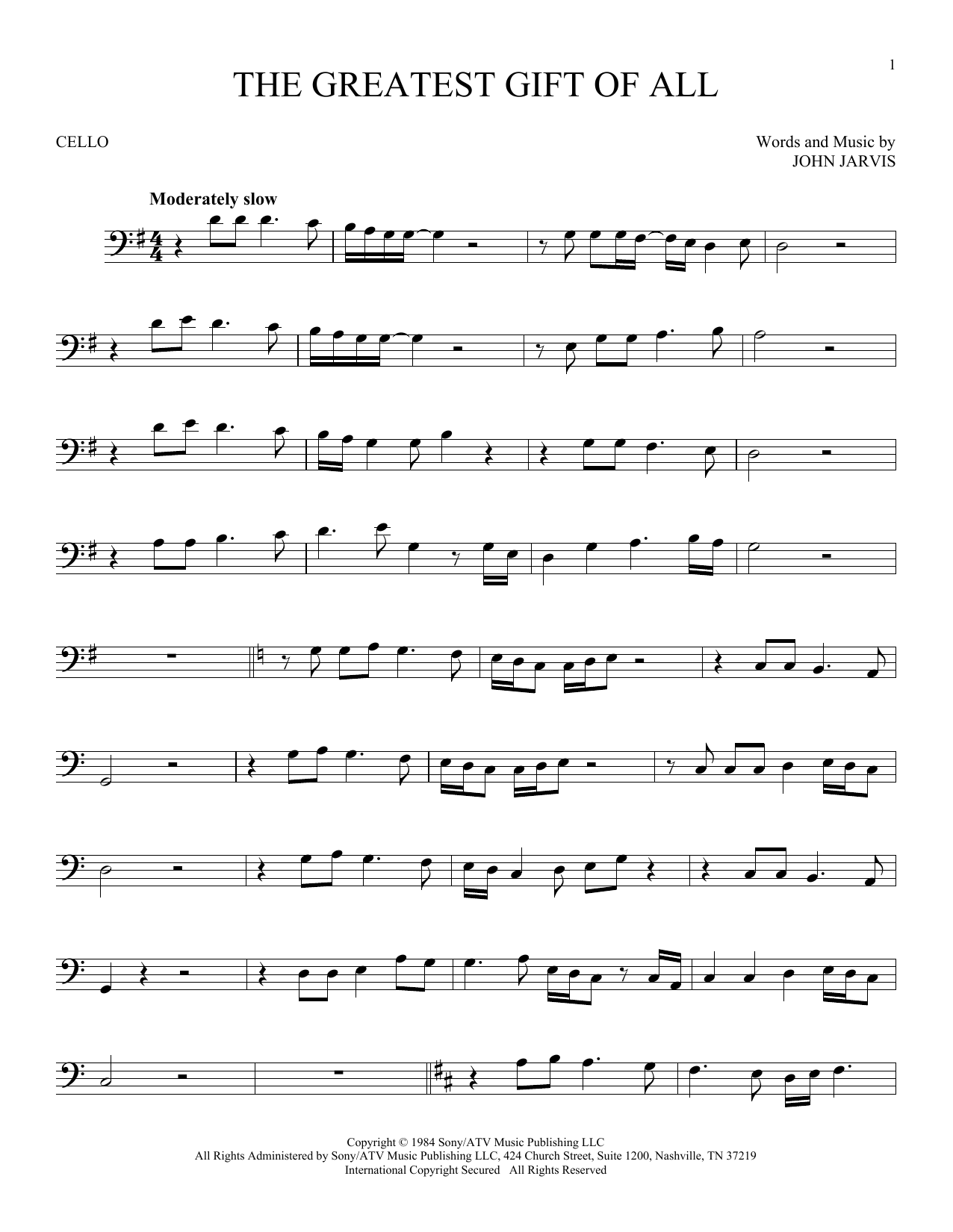 The Greatest Gift Of All Sheet Music