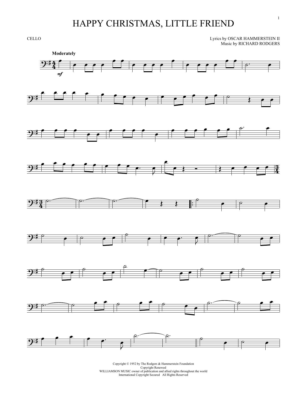 Happy Christmas, Little Friend (Cello Solo)