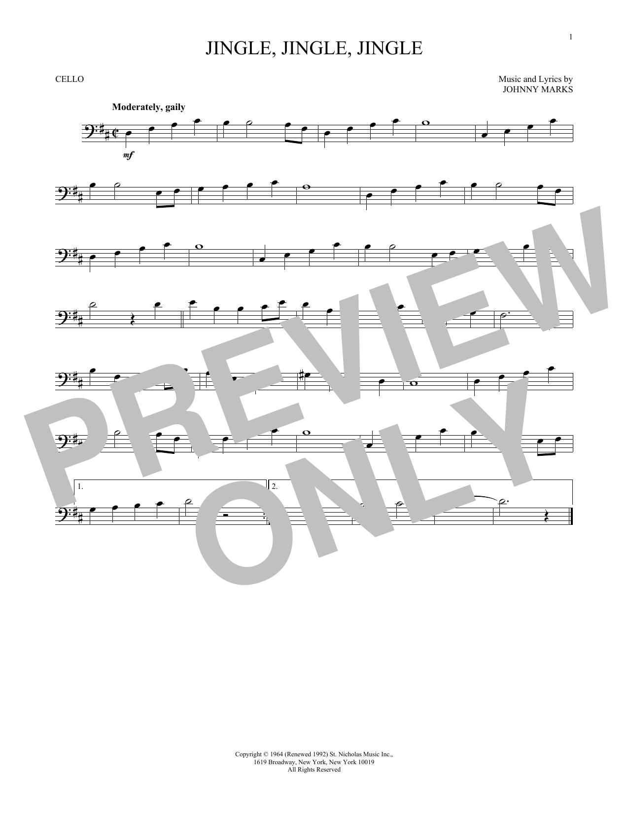 Jingle, Jingle, Jingle (Cello)