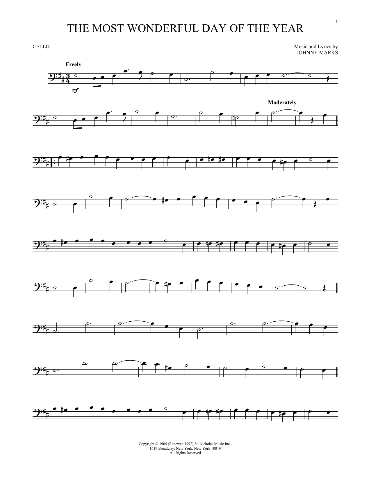 The Most Wonderful Day Of The Year (Cello Solo)