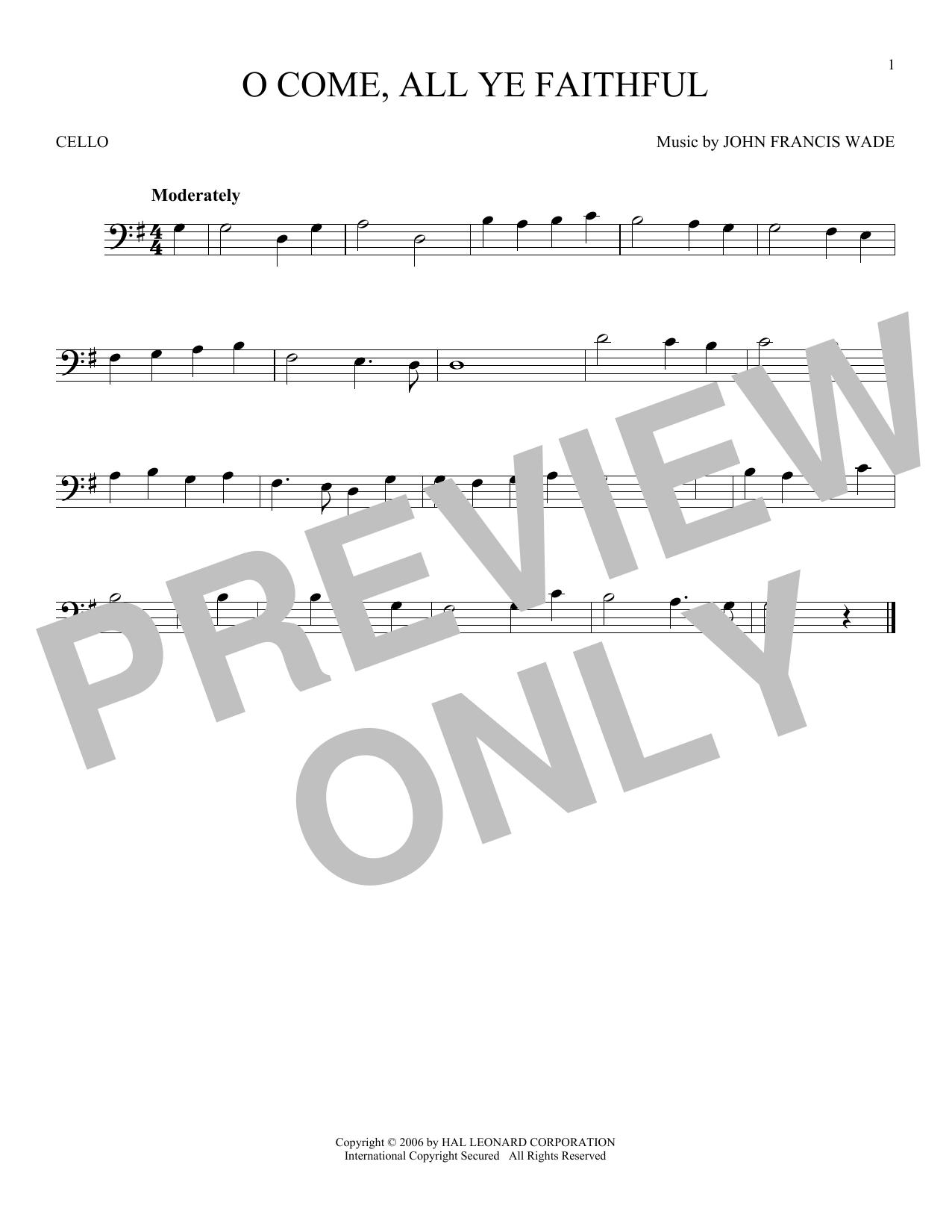 O Come, All Ye Faithful (Cello Solo)