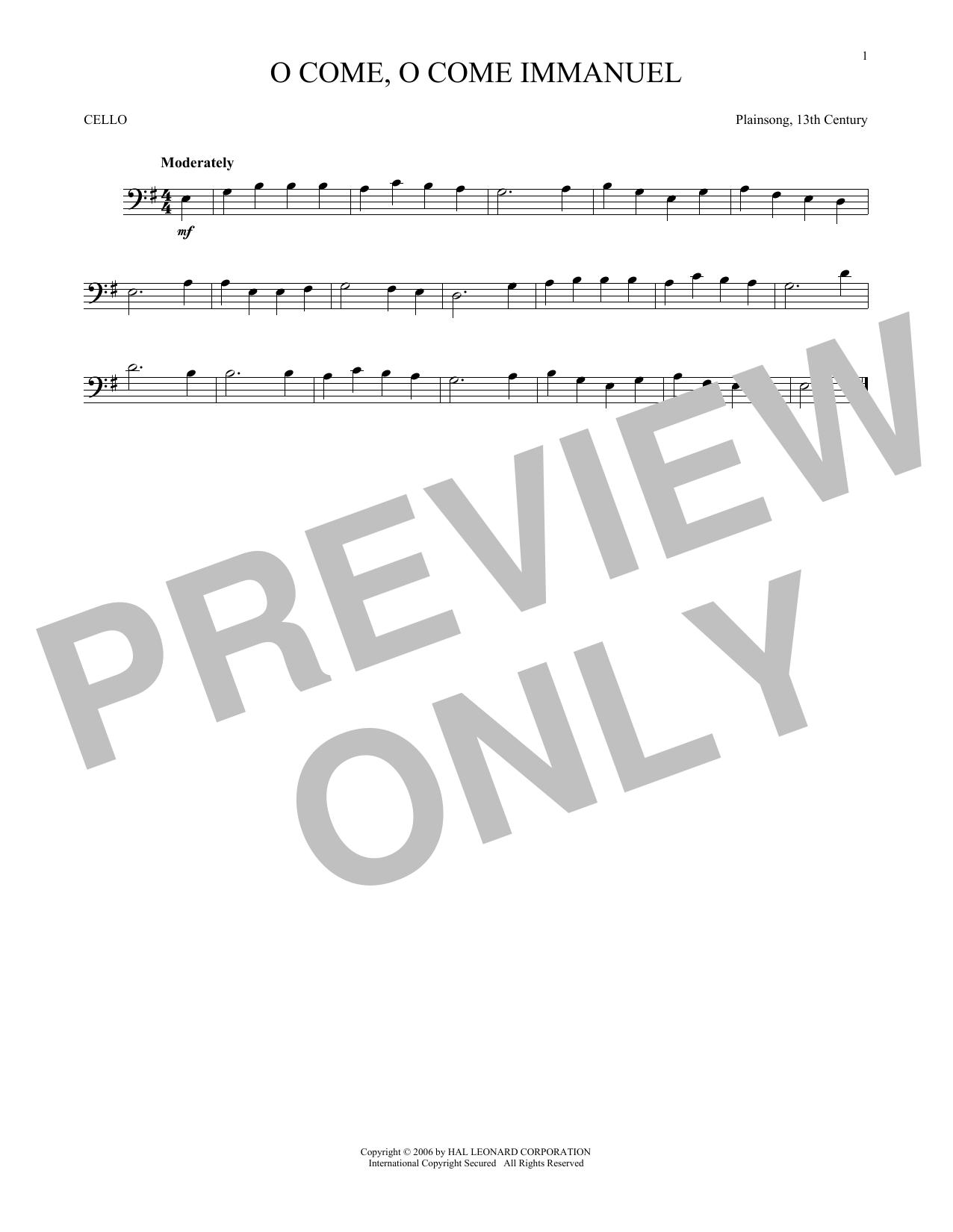 O Come, O Come Immanuel (Cello Solo)