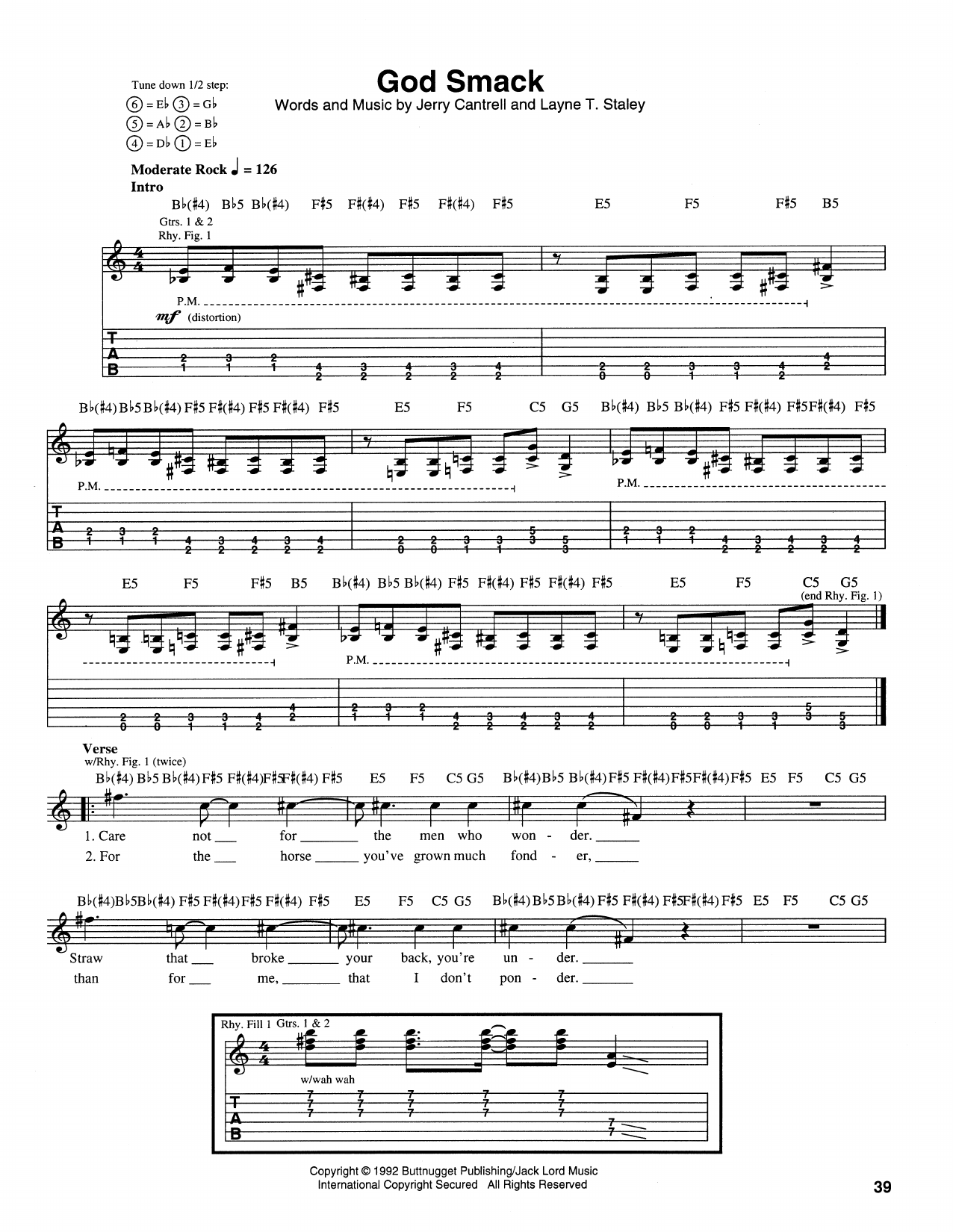 God Smack Sheet Music