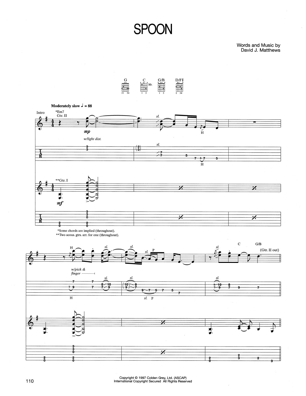 Spoon Sheet Music