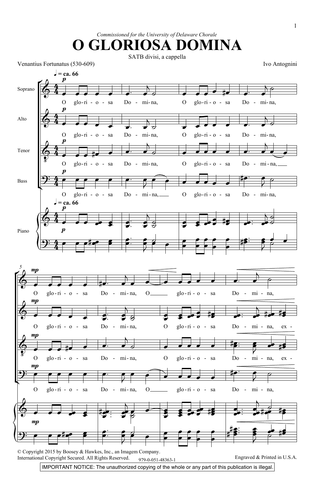 O Gloriosa Domina (SATB Choir)