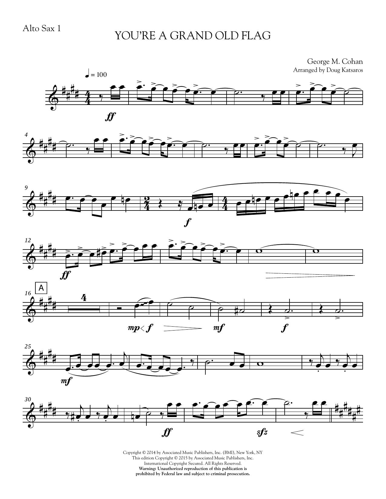 You're a Grand Old Flag - Part 1 - Eb Alto Sax Sheet Music
