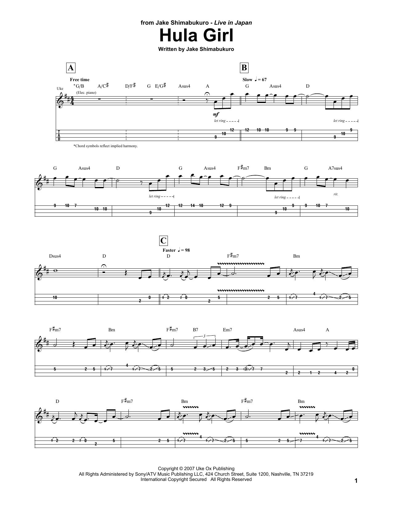Hula Girl Sheet Music