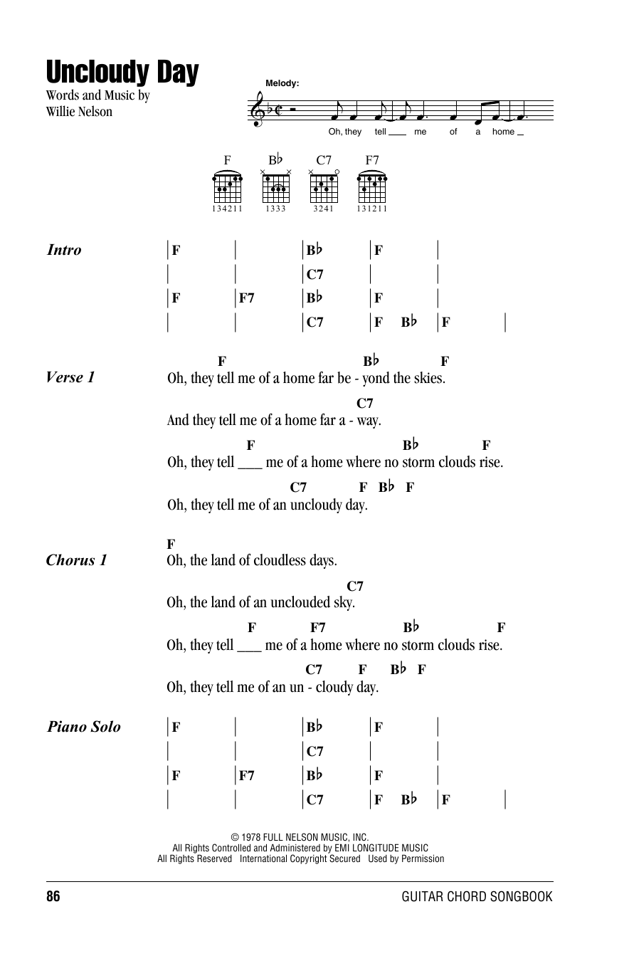 Uncloudy Day Sheet Music