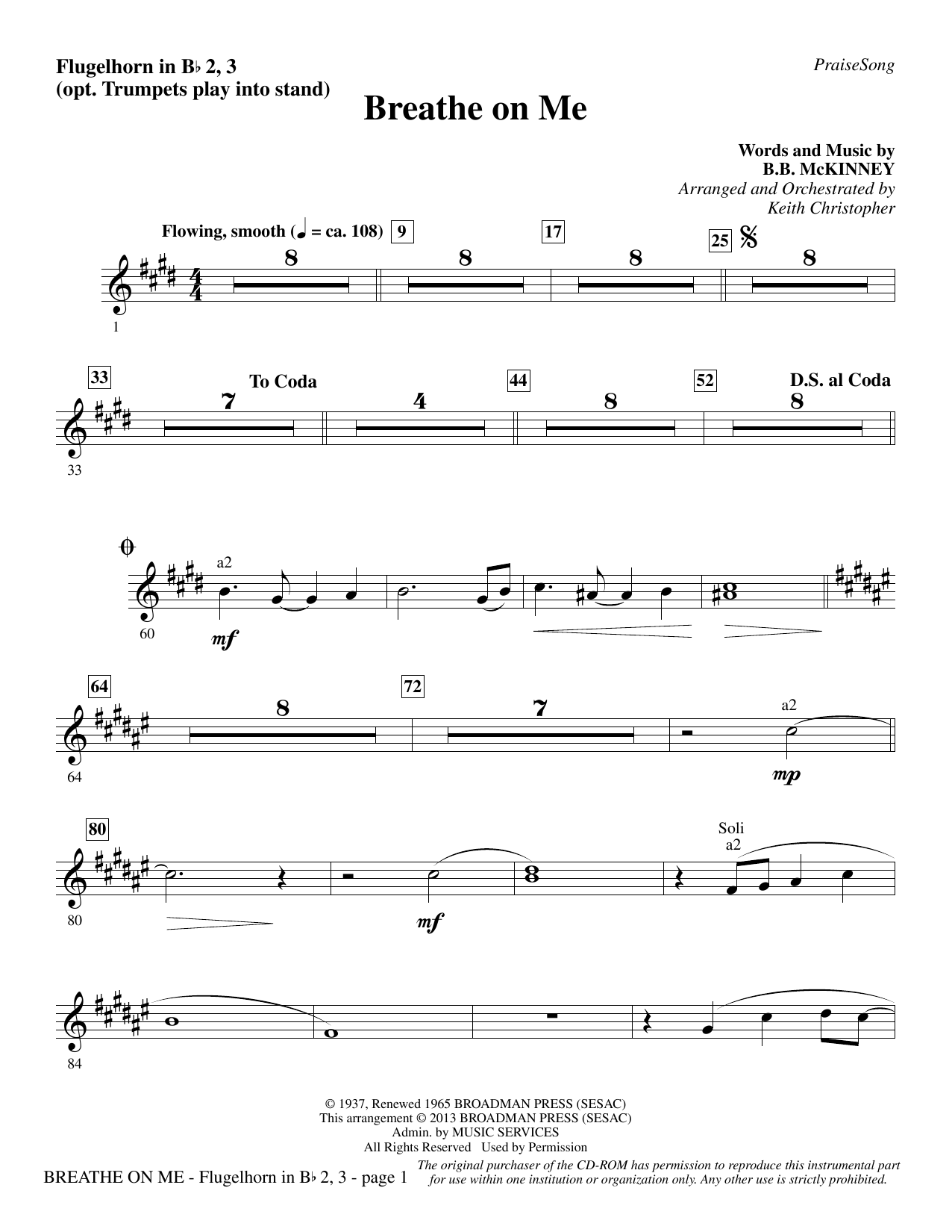 Breathe on Me - Flugelhorn 2-3 (opt. Tpt. 2-3) Sheet Music