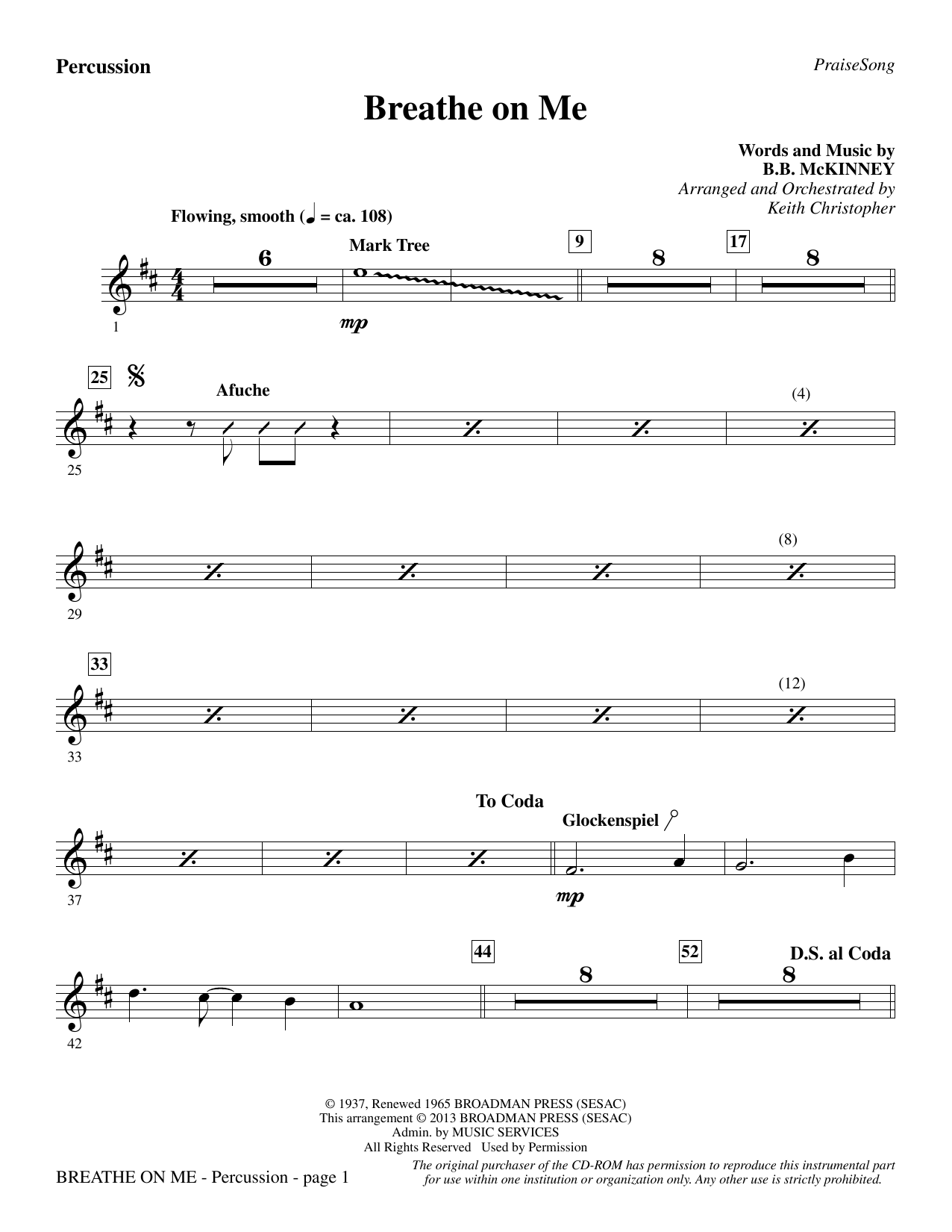 Breathe on Me - Percussion (Choir Instrumental Pak)