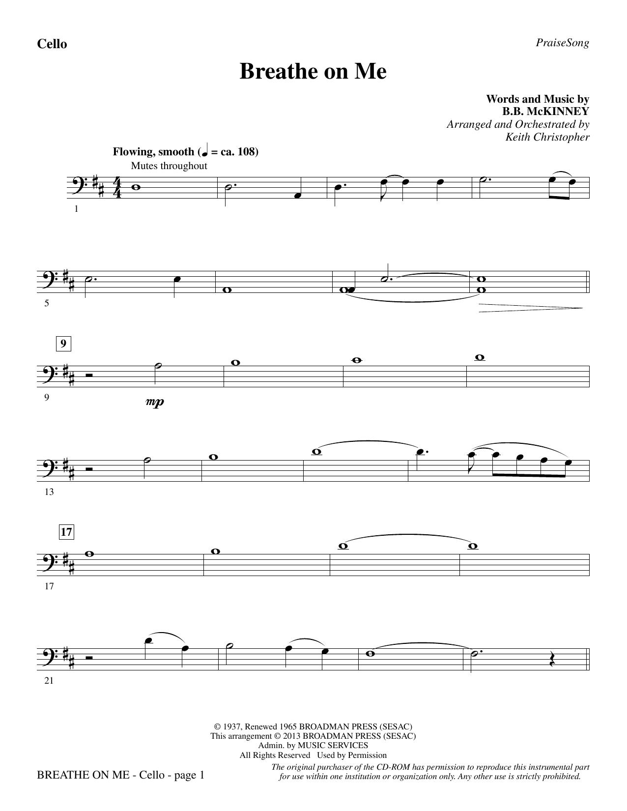 Breathe on Me - Cello (Choir Instrumental Pak)