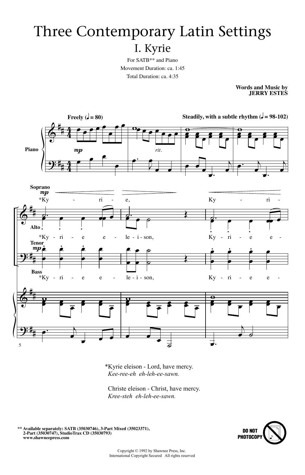 Kyrie Sheet Music