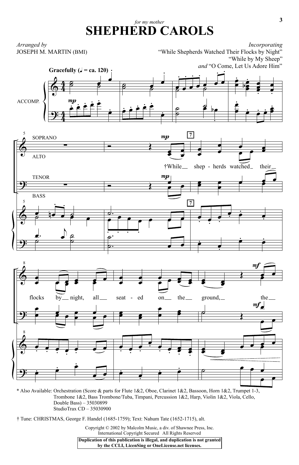 Shepherd Carols Sheet Music