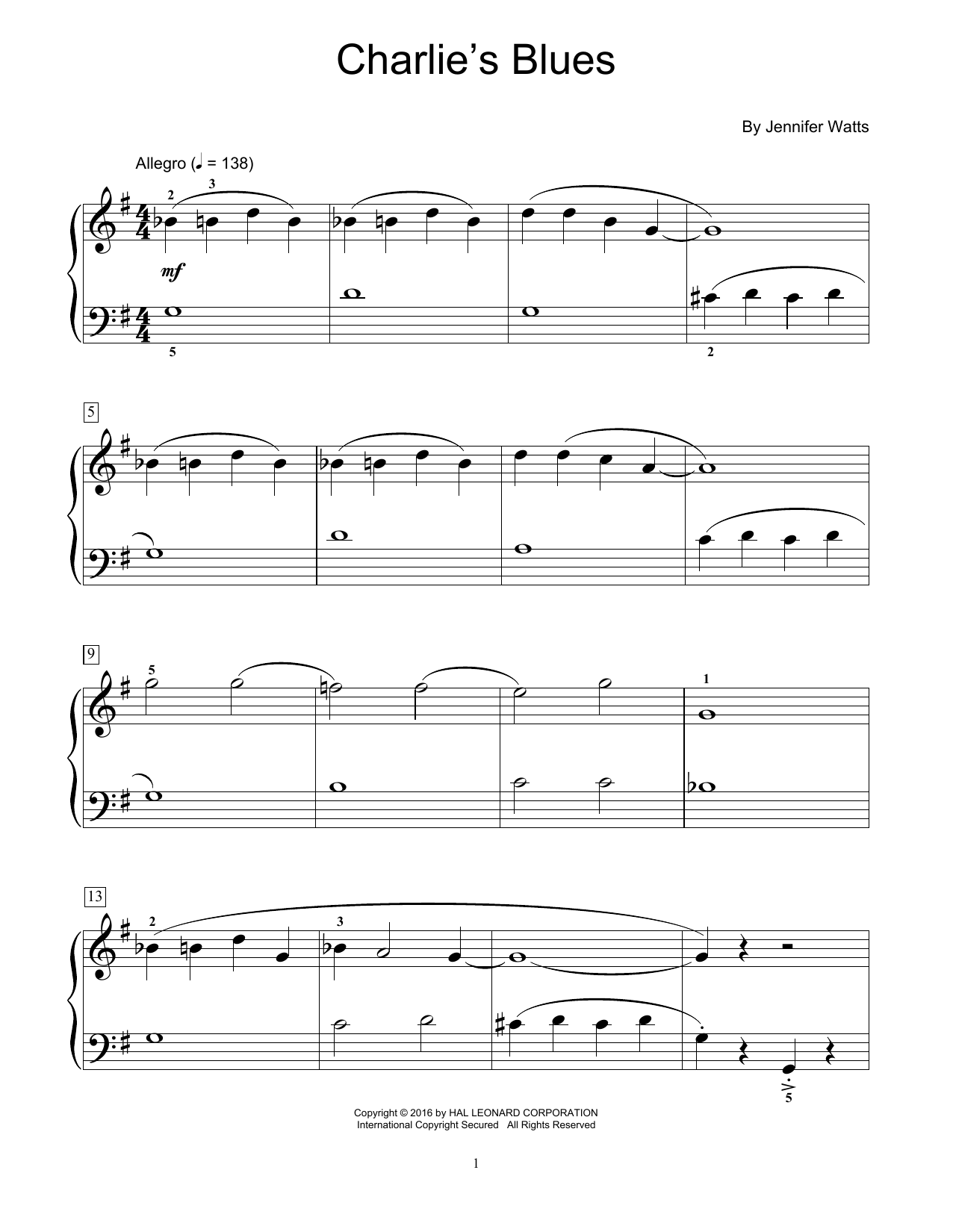 Charlie's Blues Sheet Music