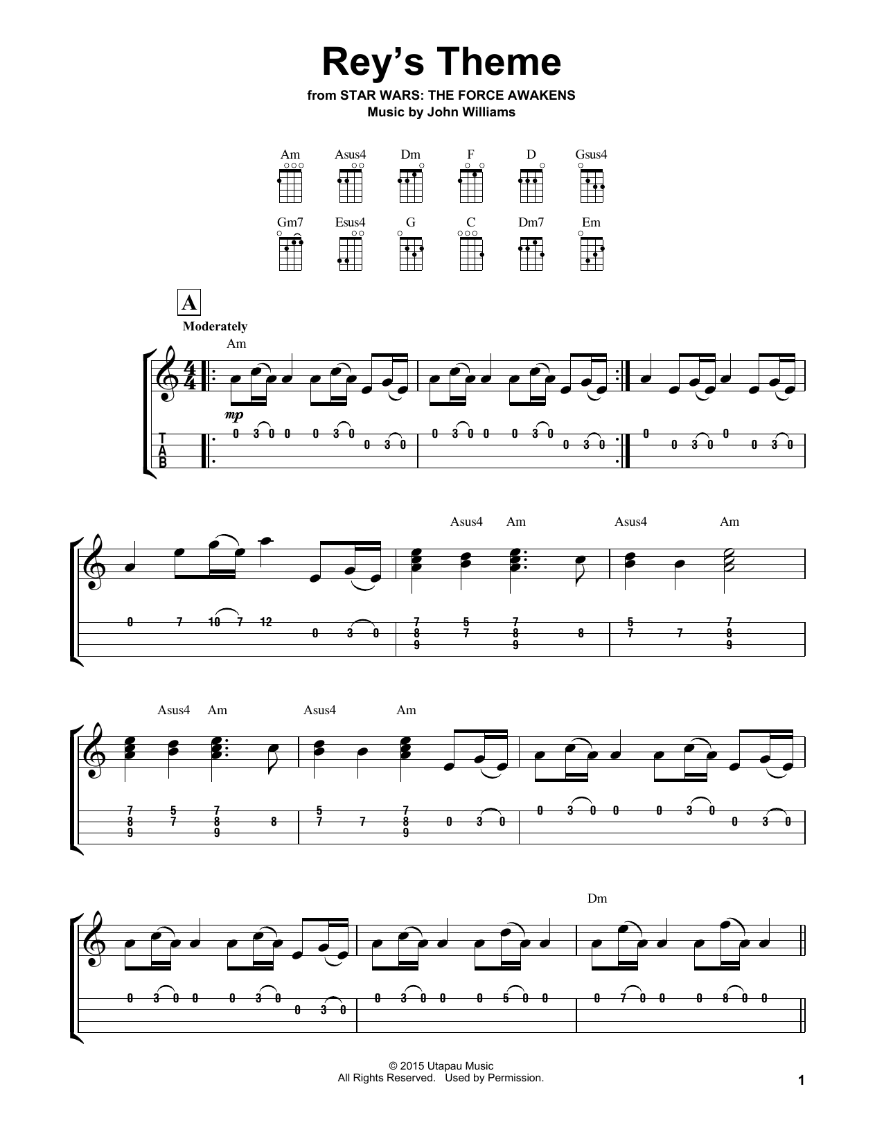 Rey's Theme Sheet Music