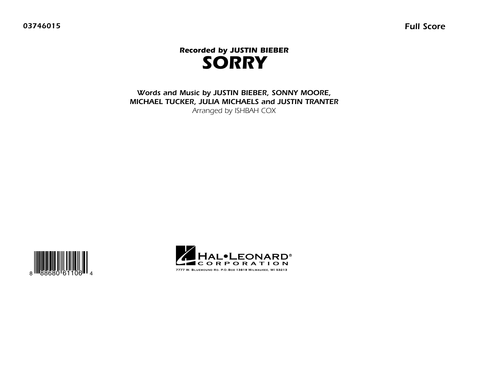 Sorry - Conductor Score (Full Score) (Marching Band)