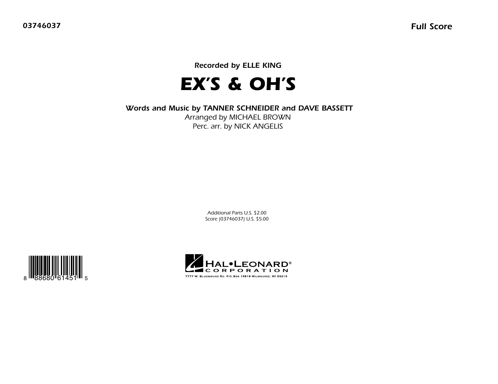 Ex's & Oh's - Conductor Score (Full Score) (Marching Band)