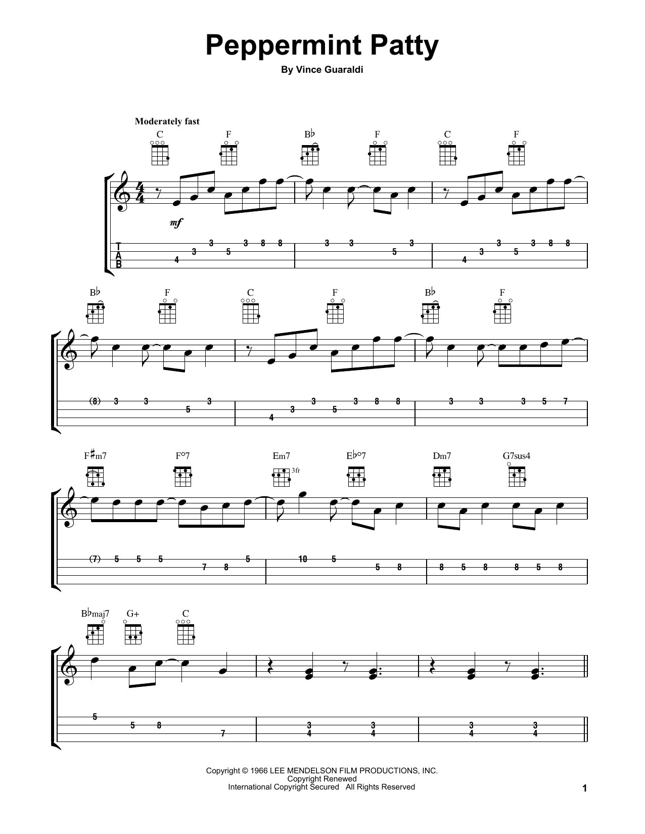 Peppermint Patty Sheet Music