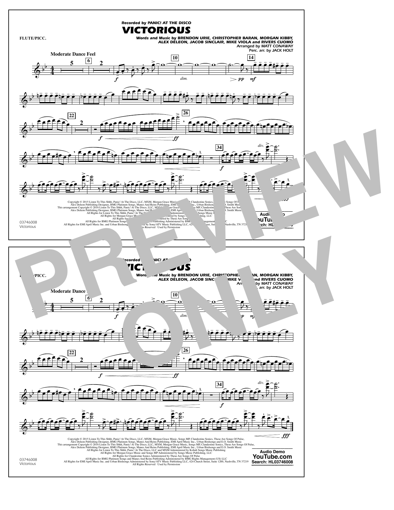 Victorious - Flute/Piccolo (Marching Band)