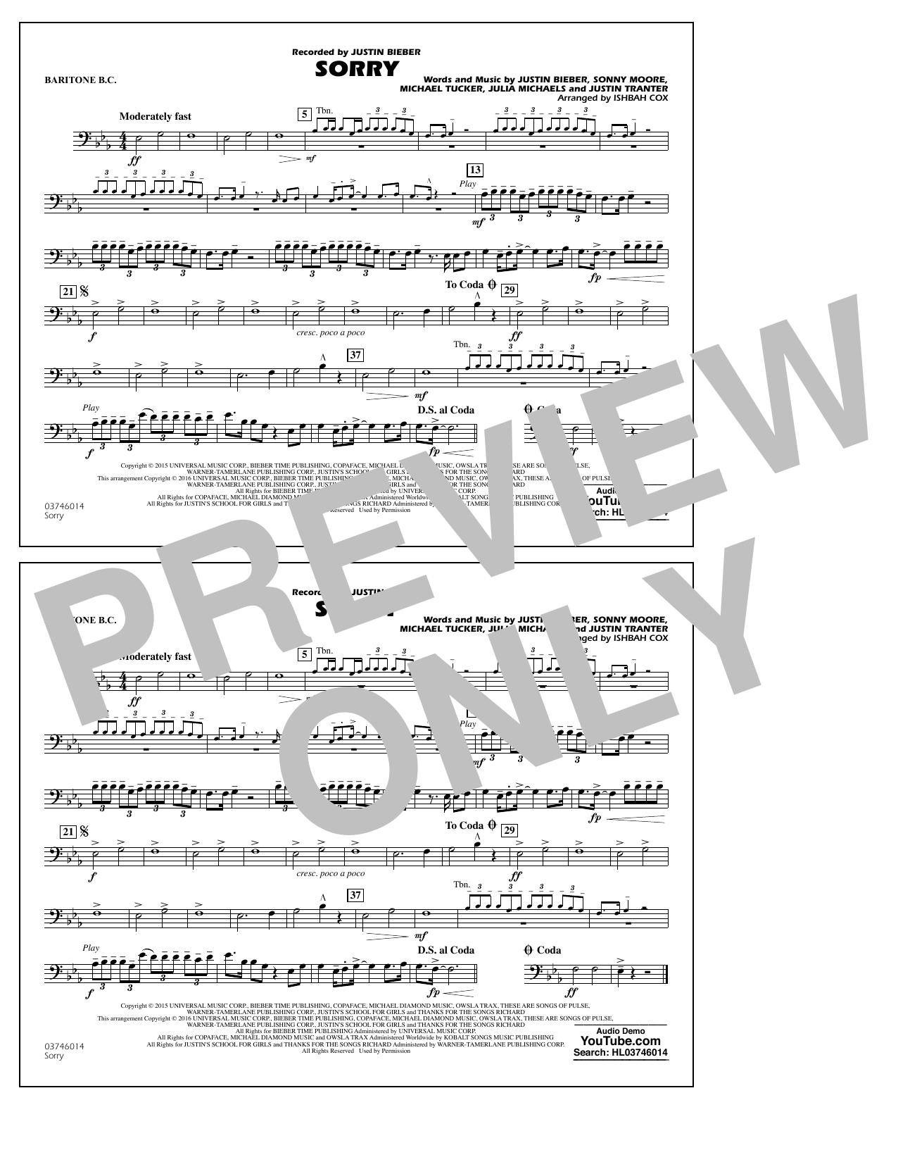Sorry - Baritone B.C. (Marching Band)