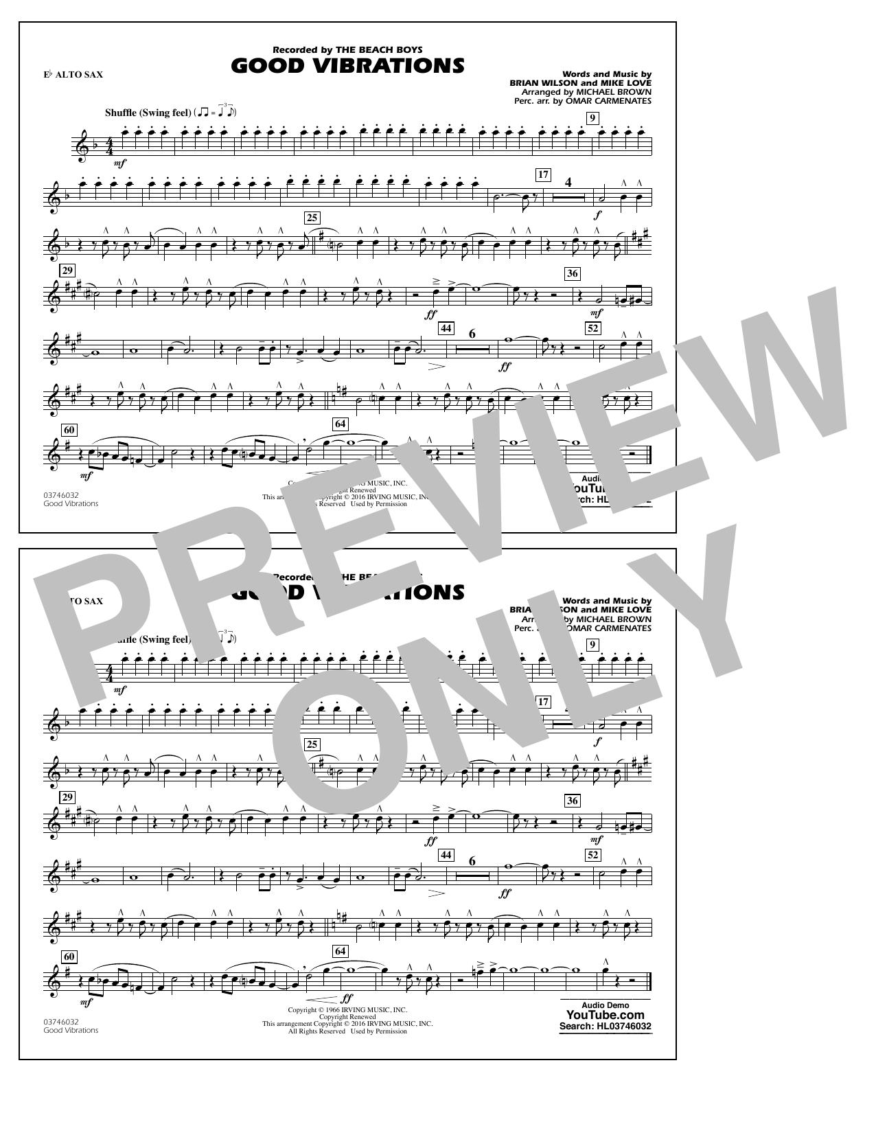 Good Vibrations - Eb Alto Sax (Marching Band)