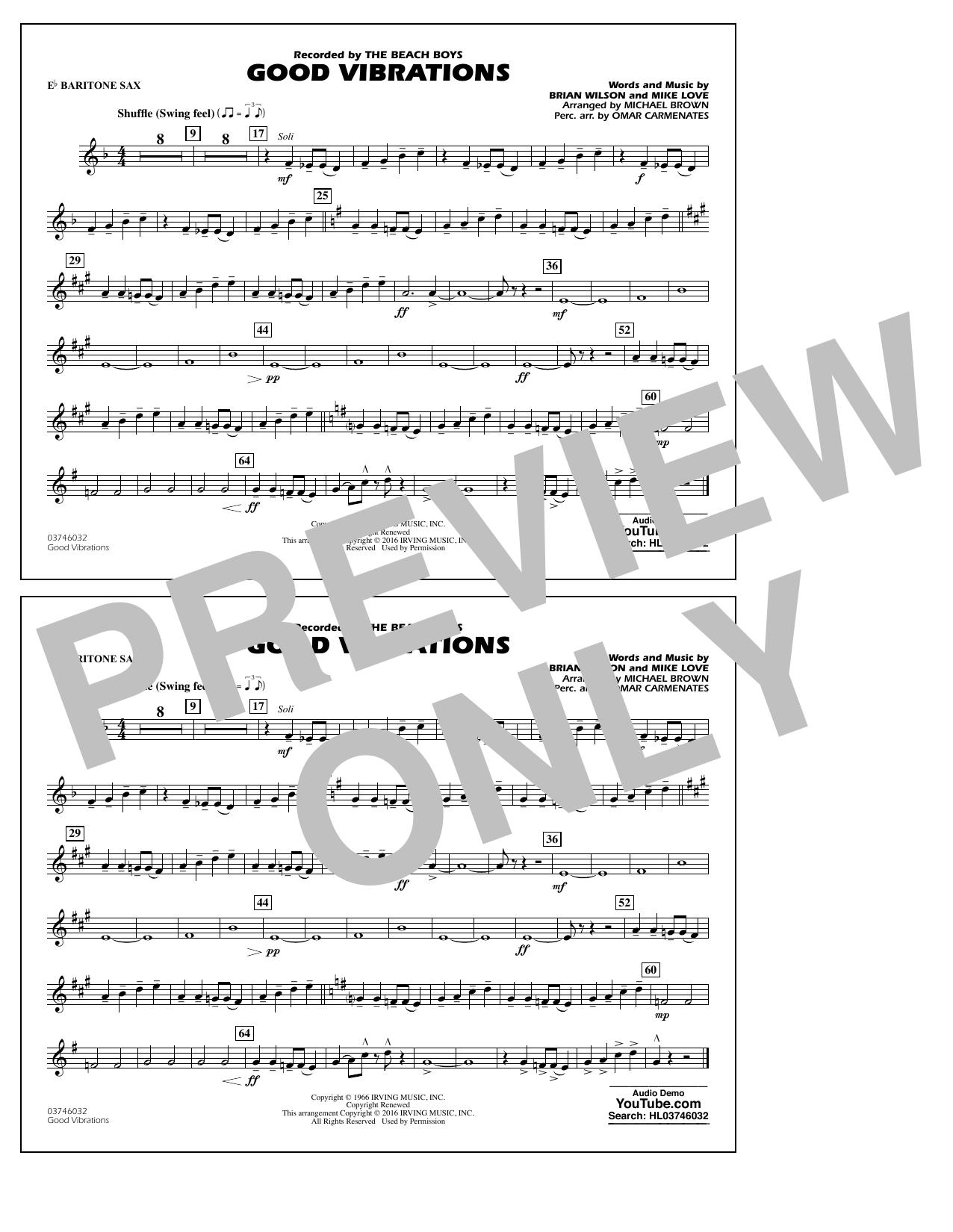 Good Vibrations - Eb Baritone Sax (Marching Band)