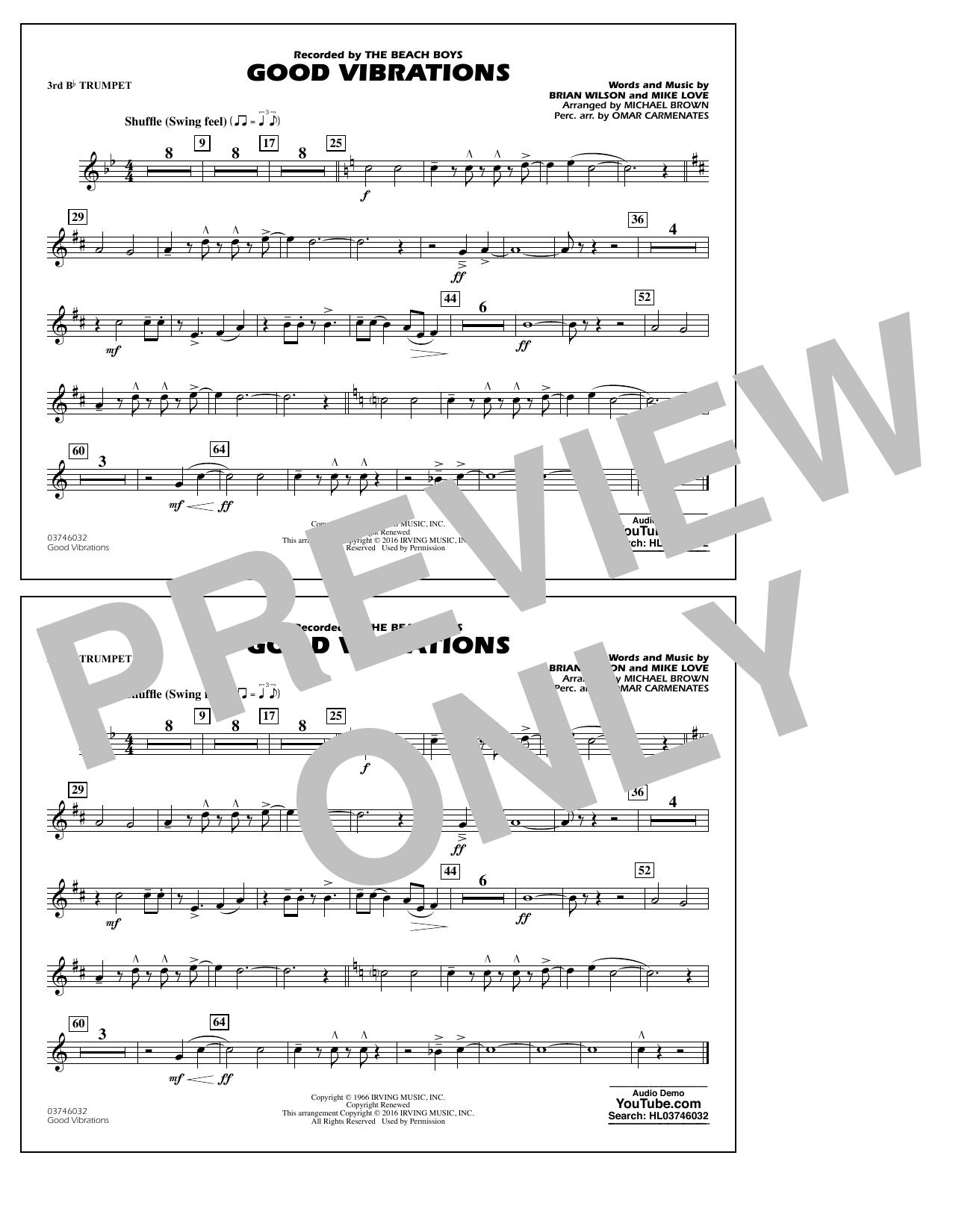 Good Vibrations - 3rd Bb Trumpet (Marching Band)