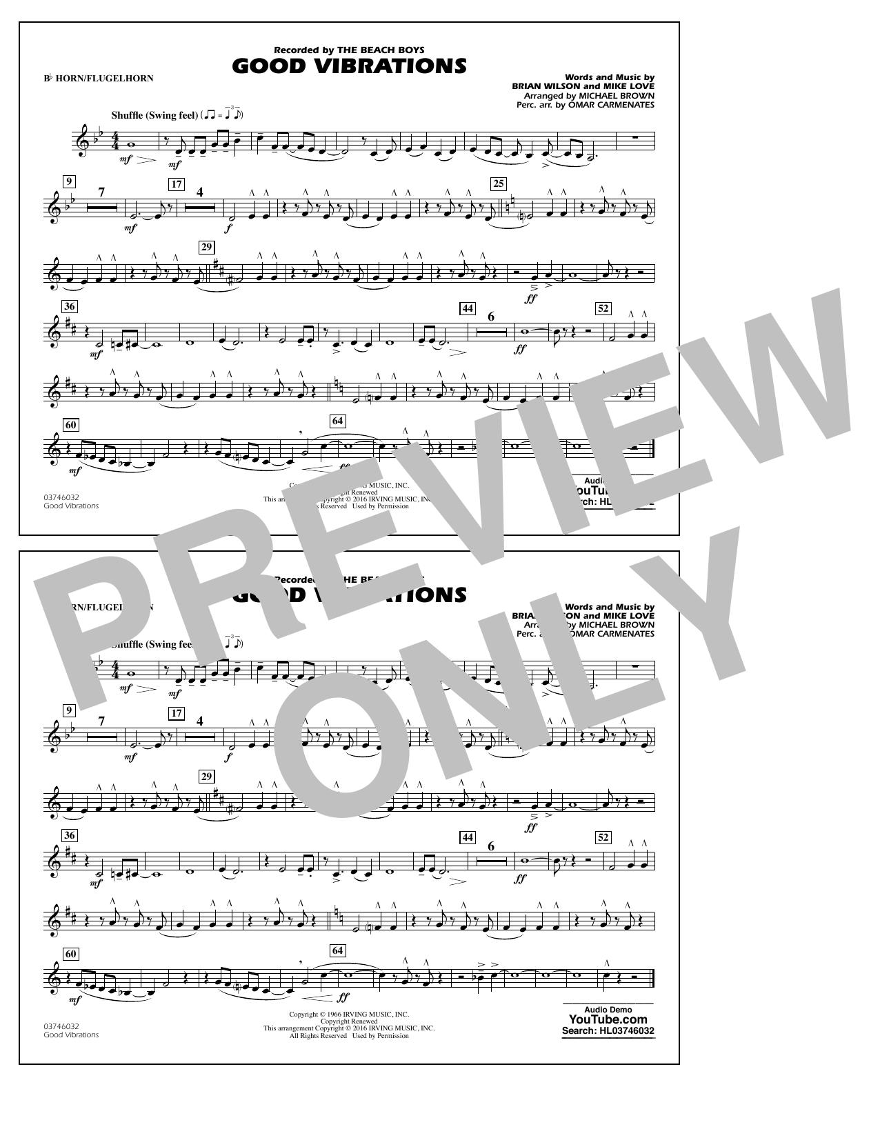 Good Vibrations - Bb Horn/Flugelhorn (Marching Band)
