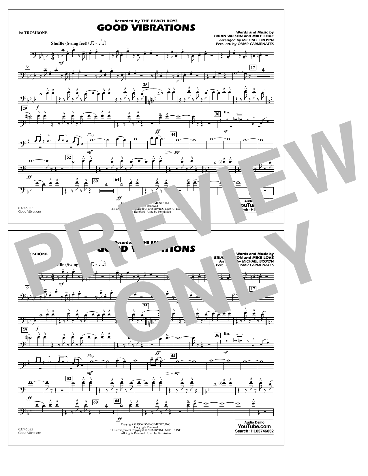 Good Vibrations - 1st Trombone Sheet Music