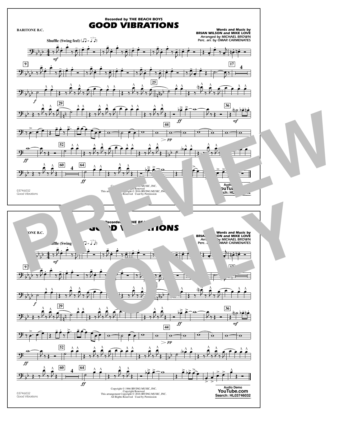 Good Vibrations - Baritone B.C. Sheet Music