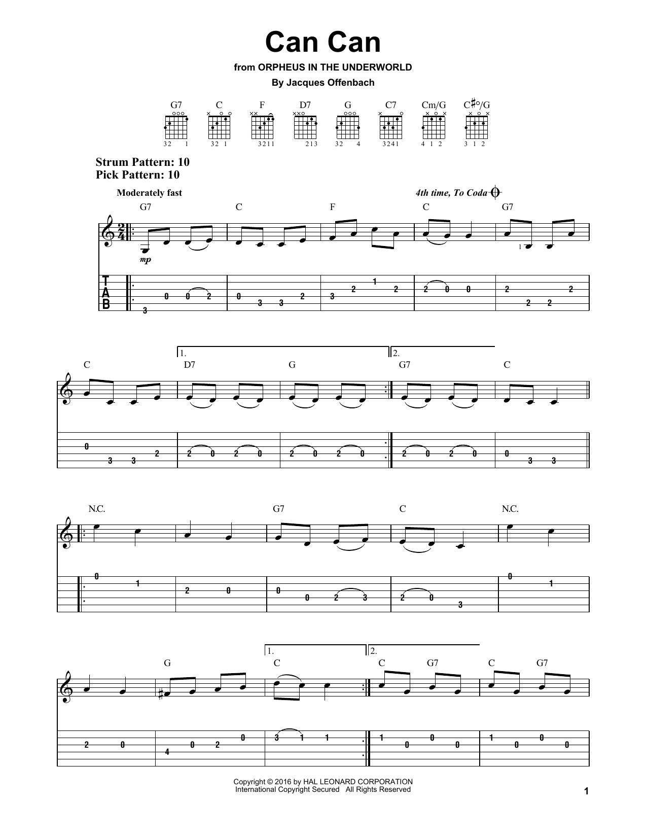 Can Can Sheet Music