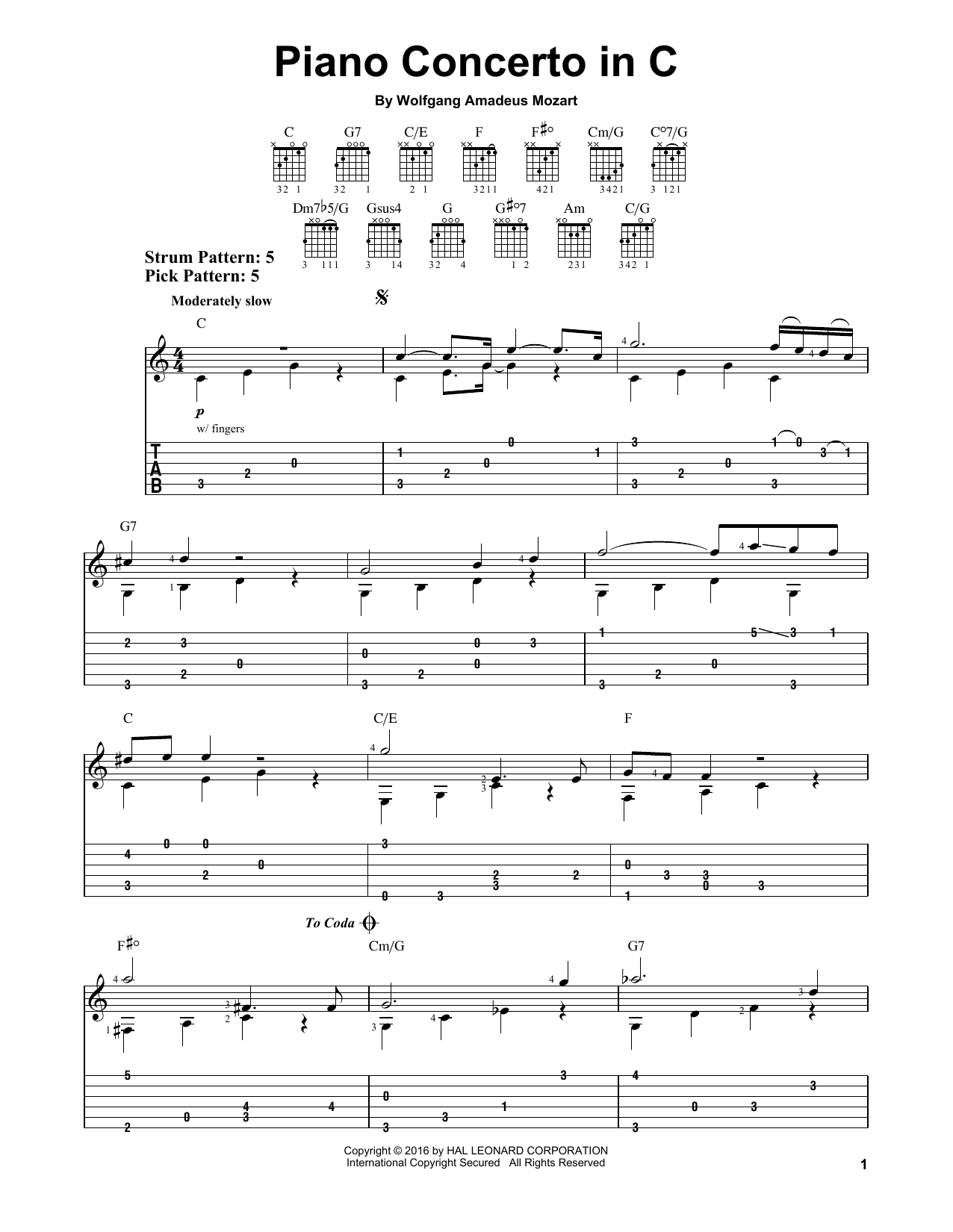 page one of Piano Concerto In CASALTTEXT