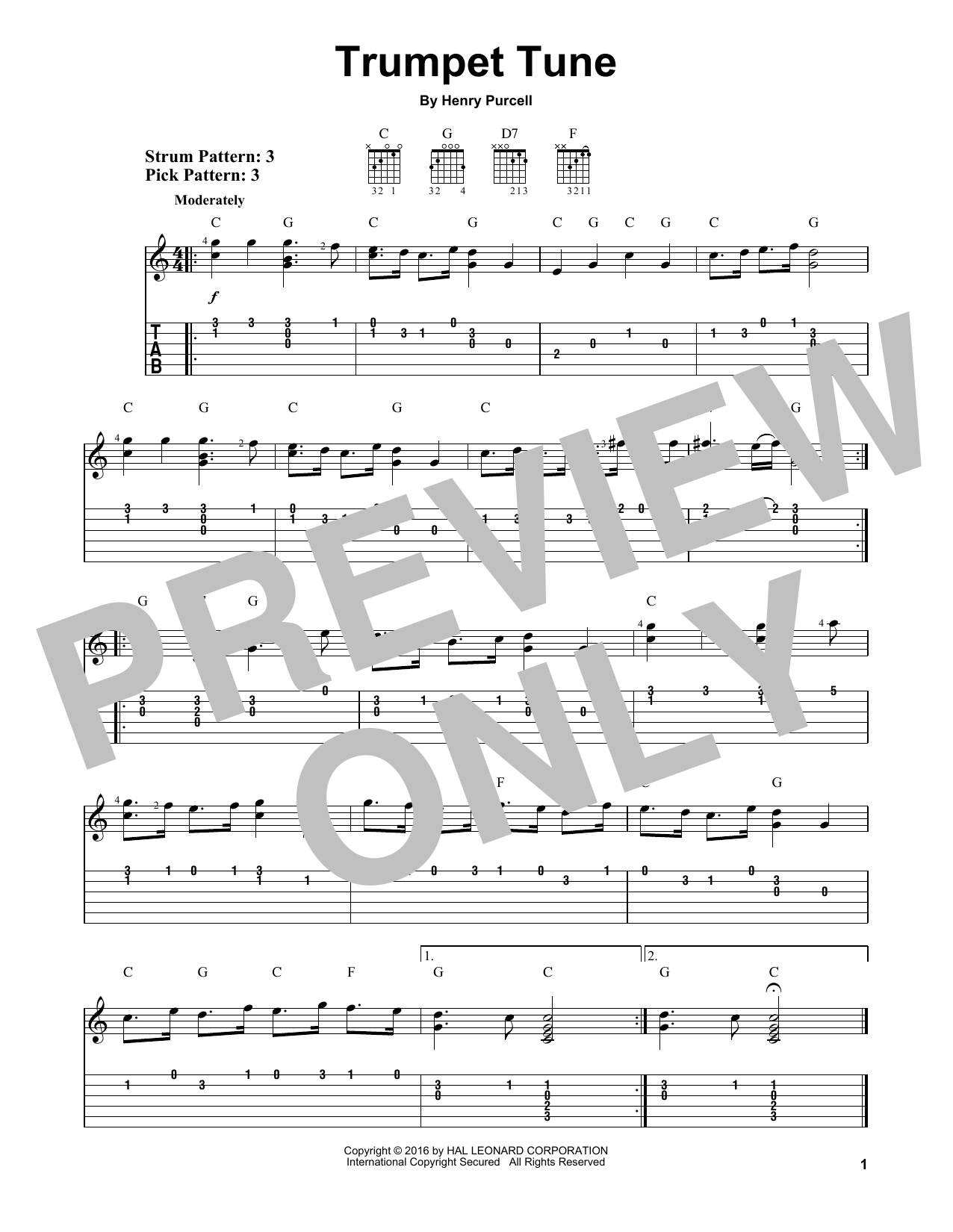 Trumpet Tune Sheet Music