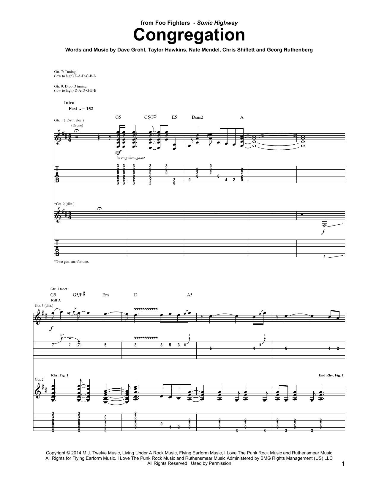 Congregation Sheet Music