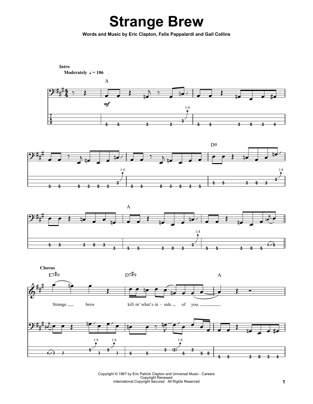Strange Brew Sheet Music