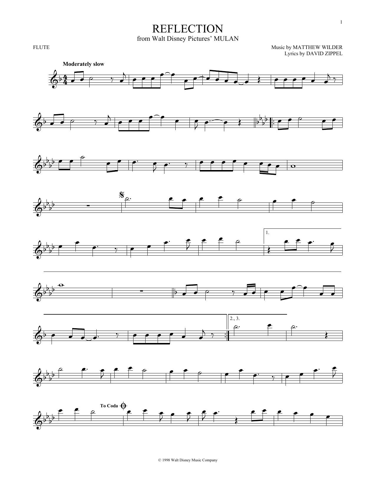 Reflection Sheet Music