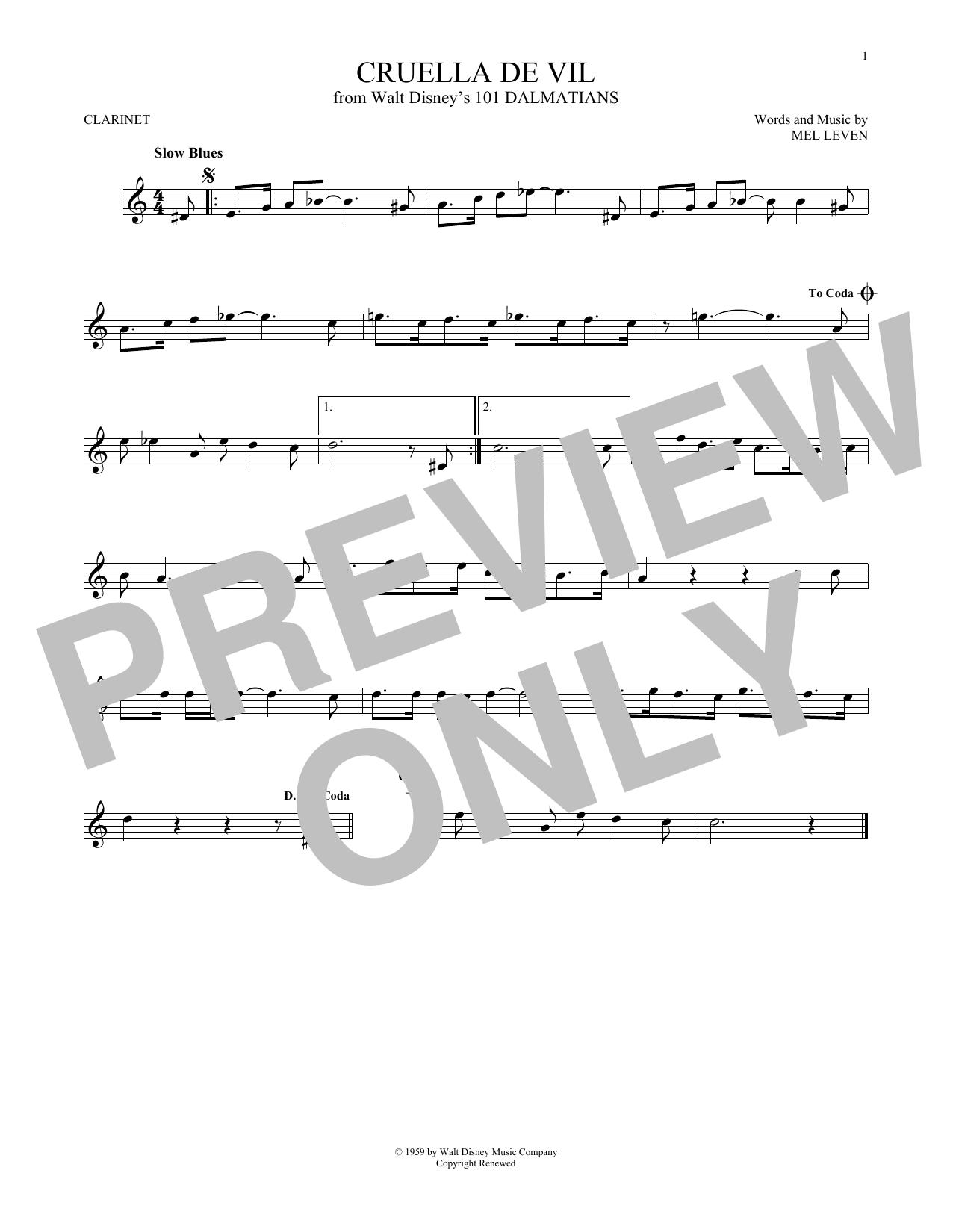 Cruella De Vil (Clarinet Solo)