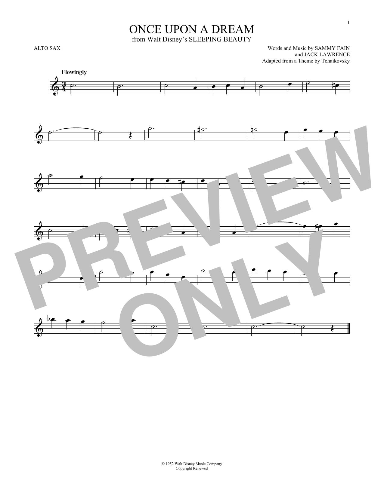 Partition saxophone Once Upon A Dream de Sammy Fain - Autre