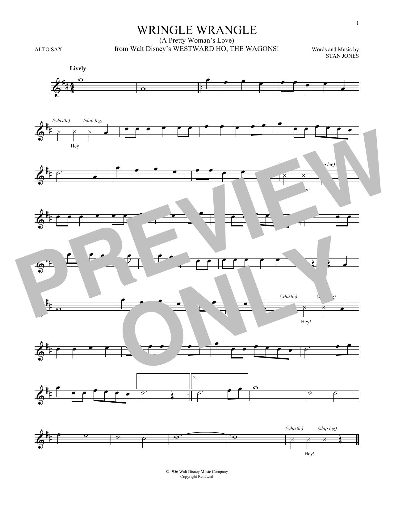 Wringle Wrangle (A Pretty Woman's Love) (Alto Sax Solo)