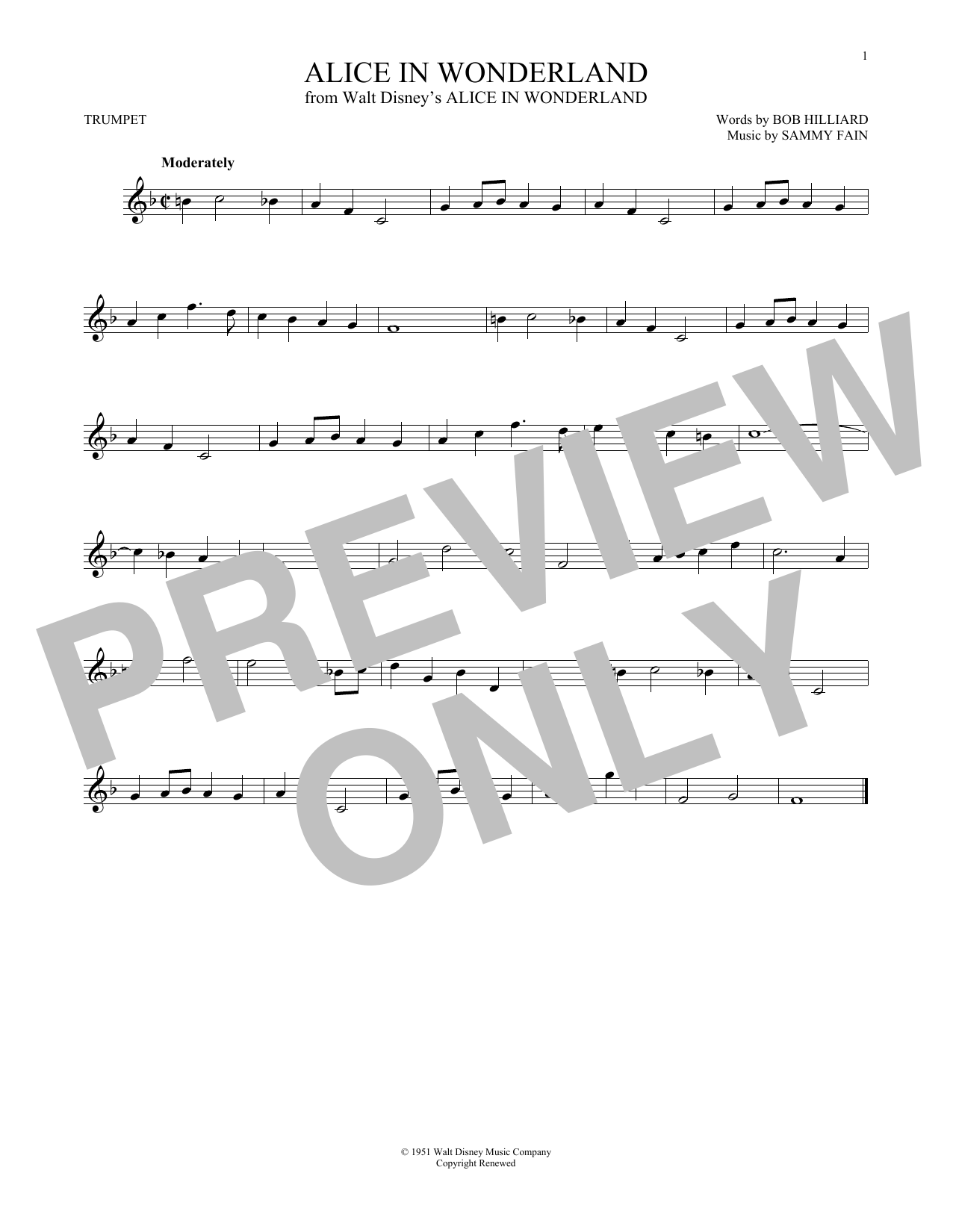 Alice In Wonderland (Trumpet Solo)