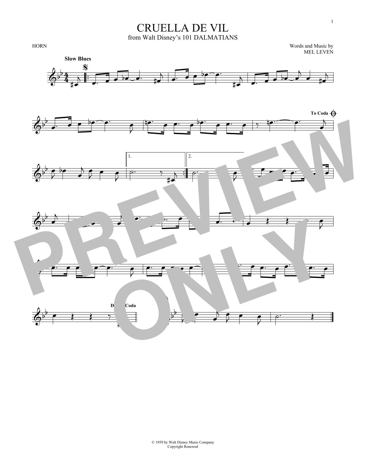 Cruella De Vil (French Horn Solo)