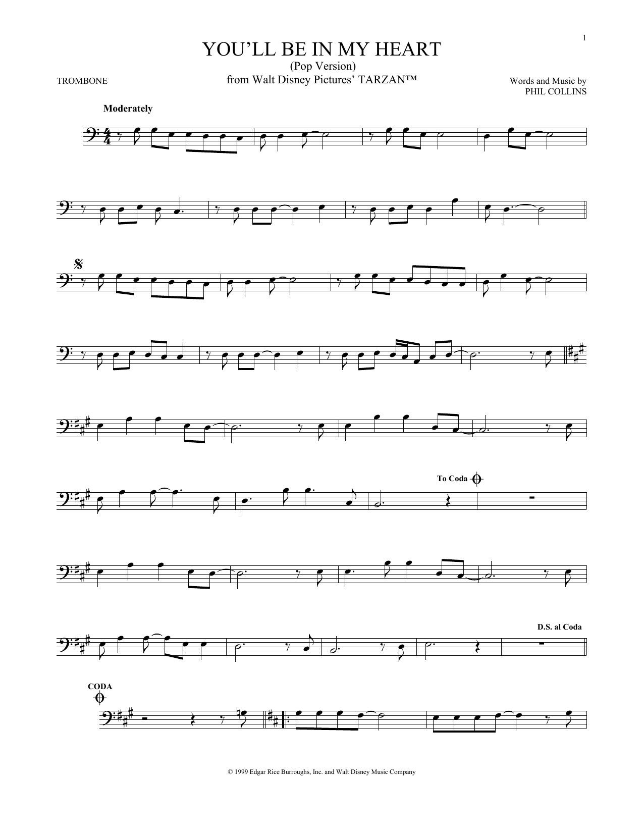 You'll Be In My Heart (Pop Version) (Trombone Solo)