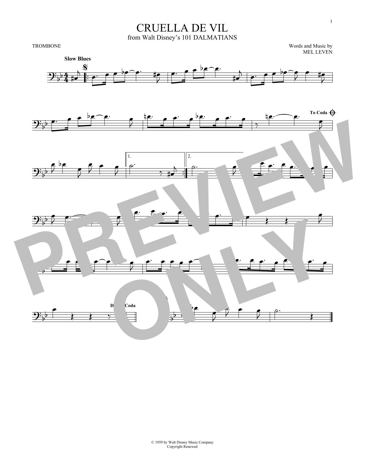 Cruella De Vil (Trombone Solo)