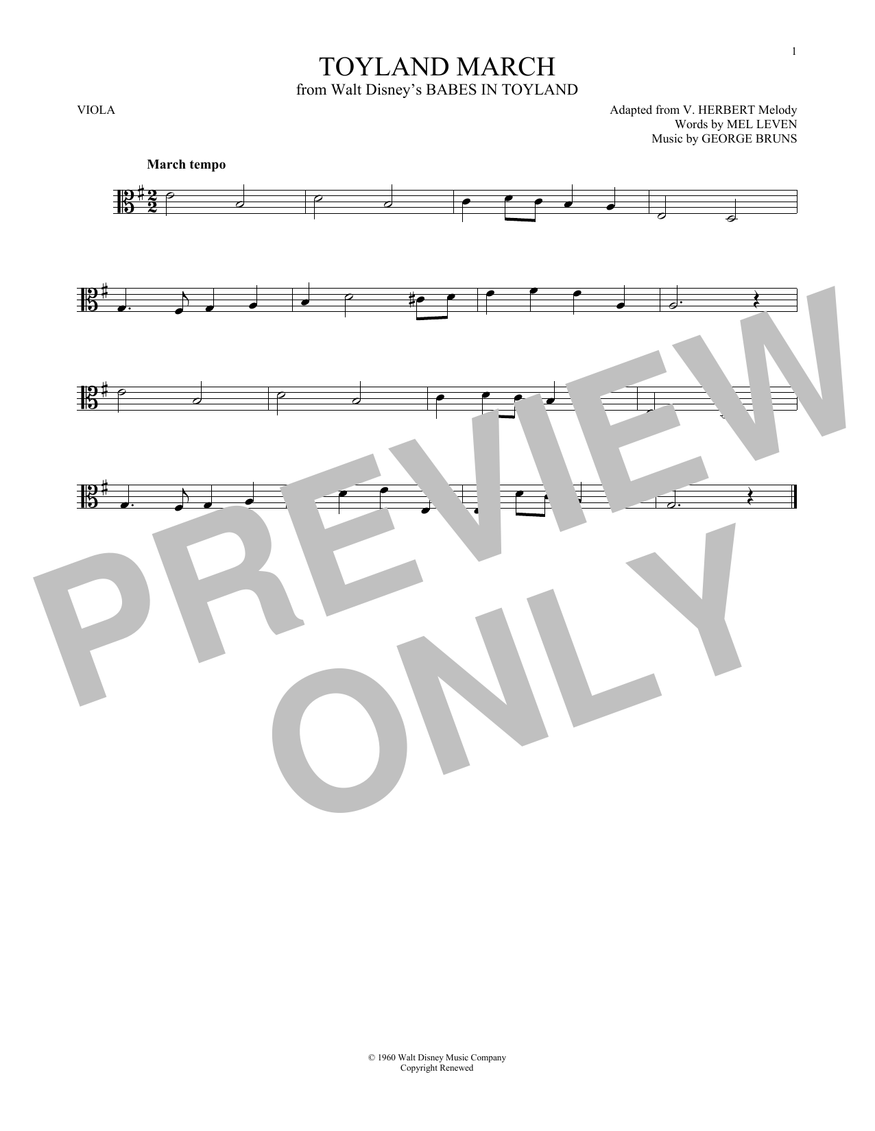 Toyland March (Viola Solo)