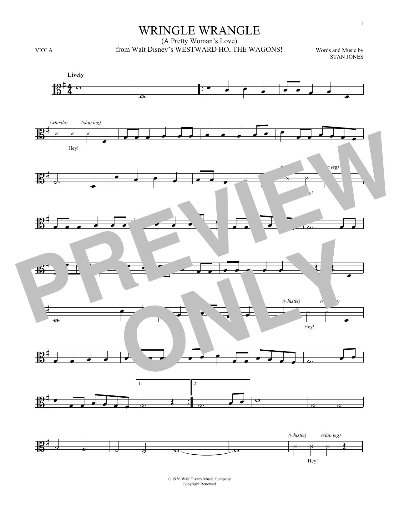 Wringle Wrangle (A Pretty Woman's Love) (Viola Solo)