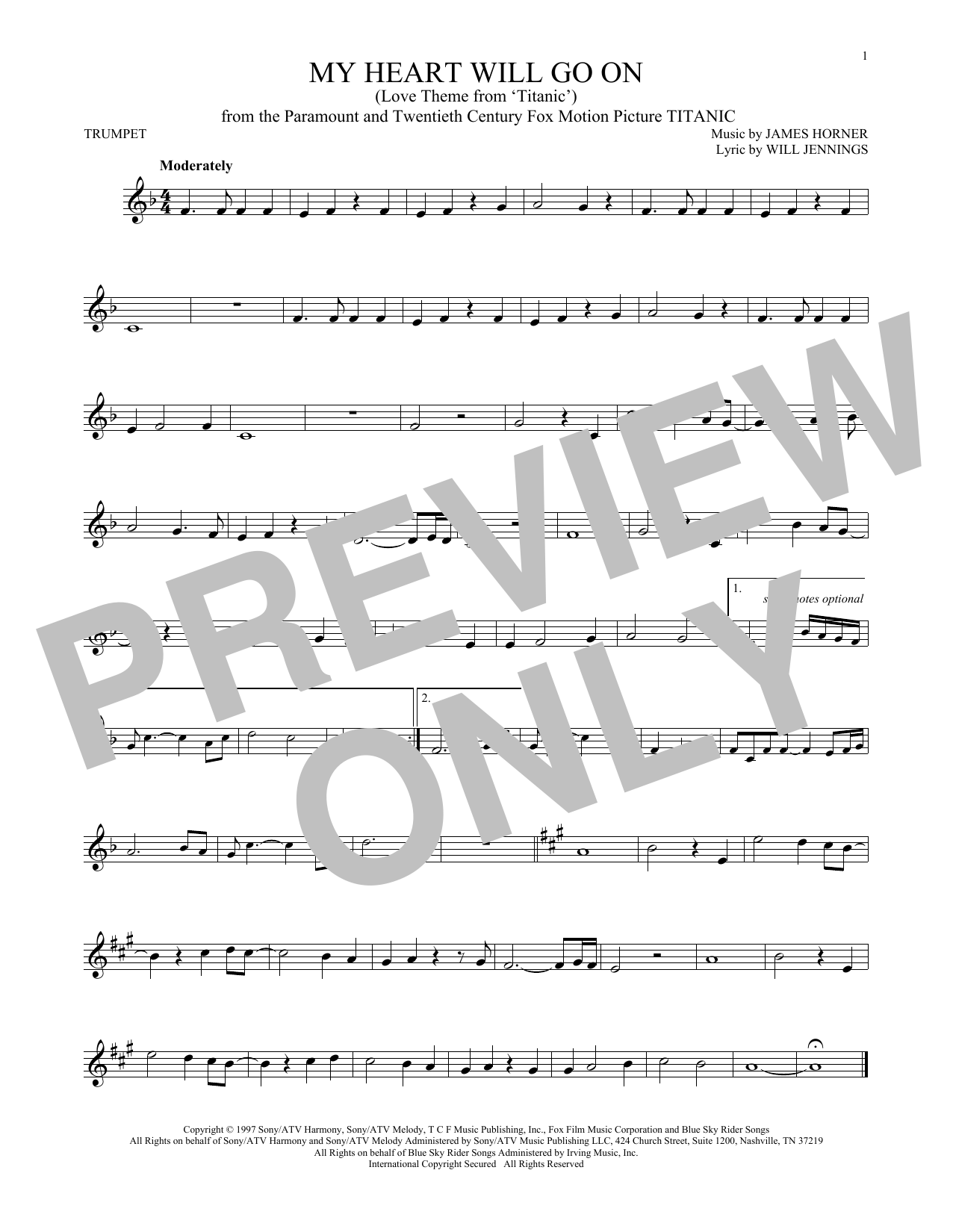 101 Movie Hits Trumpet 101 Movie Hits For Trumpet Sheet Music By Various Hal Leonard Prima Music