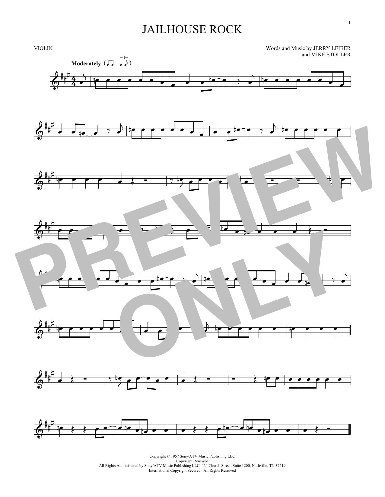 Jailhouse Rock Sheet Music